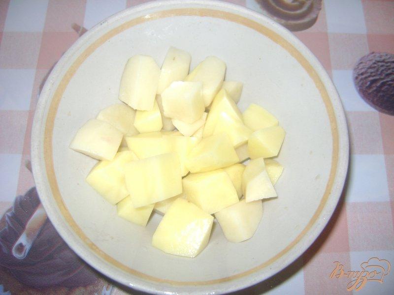 Фото приготовление рецепта: Рассольник с сердечками и пупками шаг №6