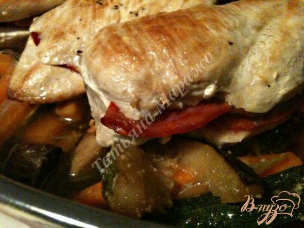фото рецепта: Куриные грудки с овощами