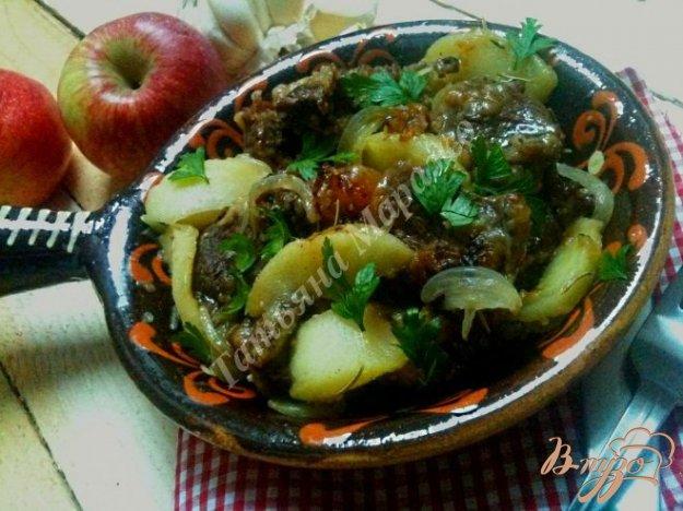 Рецепт Жаркое из говядины с яблоками
