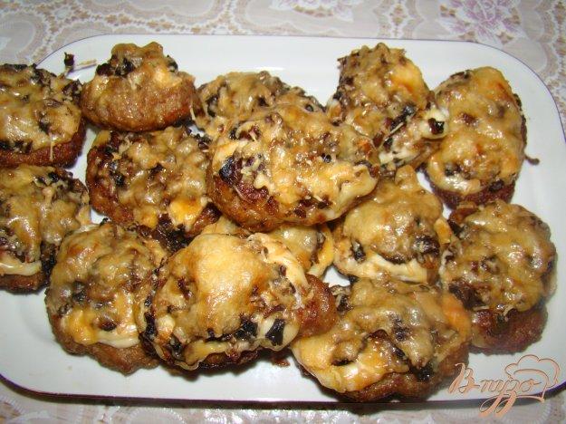 Рецепт Котлетки под грибной шубкой