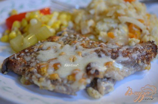 Рецепт Запеченные свиные котлеты с картофельным гарниром
