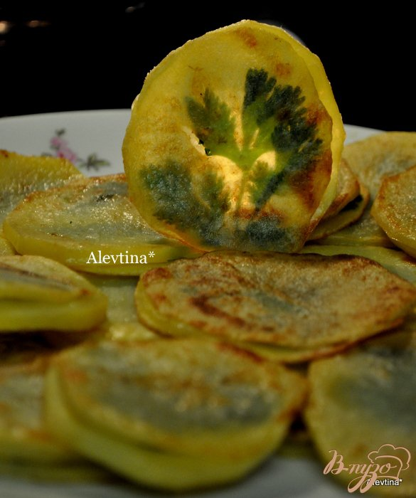Фото приготовление рецепта: Жареный картофель с  петрушкой шаг №5