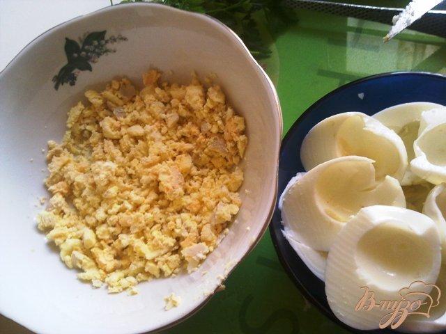 Фото приготовление рецепта: Паста из сыра тофу и подкопченной форелью шаг №2
