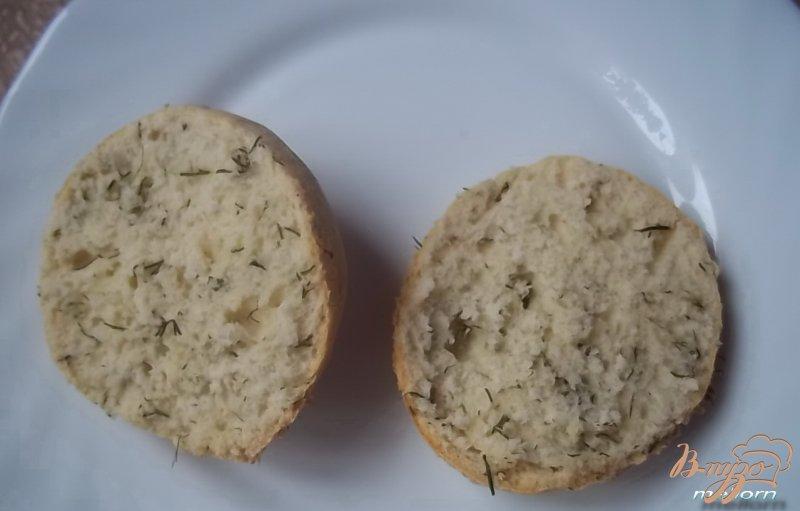 Фото приготовление рецепта: Укропные сконсы с соленой рыбкой шаг №6