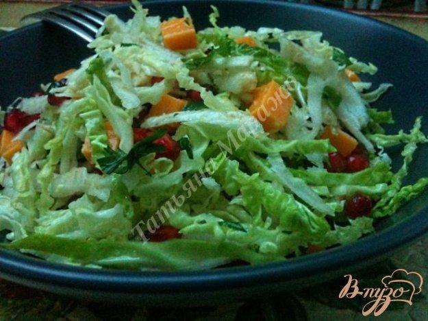 Рецепт Салат из савойской капусты с зернами граната