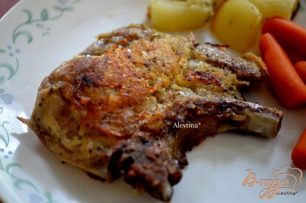Рецепт Свиные отбивные в картофеле