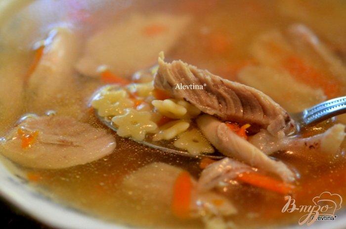 Фото приготовление рецепта: Куриный суп  с звездочками шаг №7