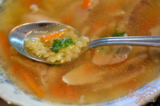 фото рецепта: Куриный суп  с звездочками