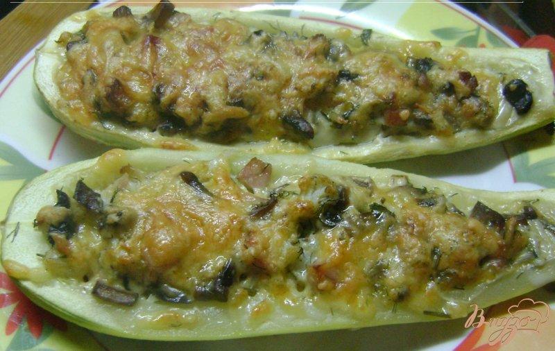 Фото приготовление рецепта: Кабачки - лодочки шаг №11