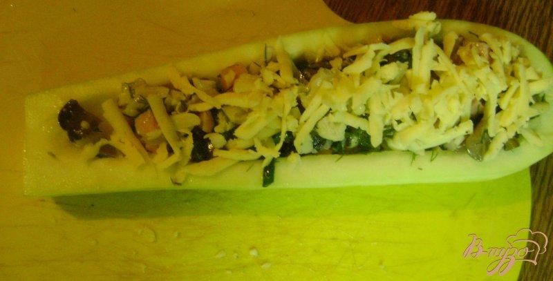 Фото приготовление рецепта: Кабачки - лодочки шаг №10