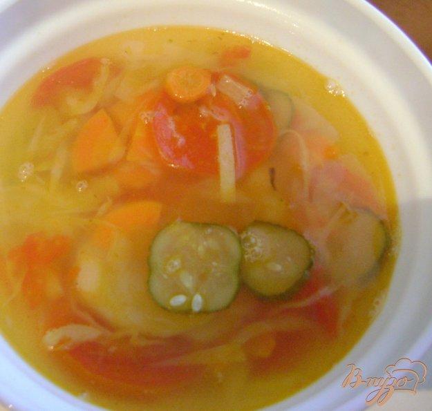 Рецепт Овощной суп с огурцами