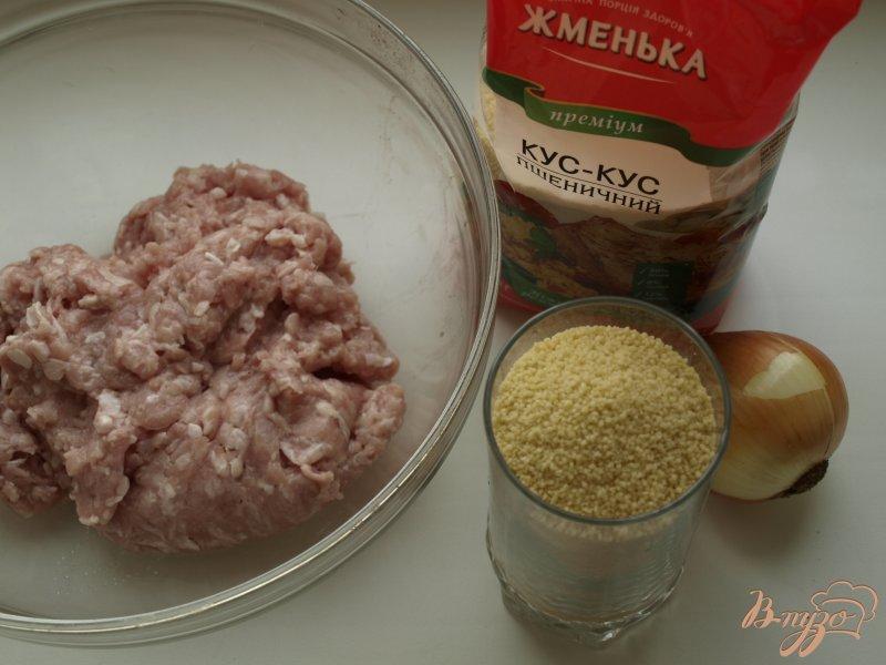 Фото приготовление рецепта: Котлеты из индюшиного фарша с кус-кусом шаг №1