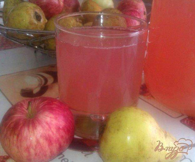Рецепт Компот яблочно-грушевый со сливами