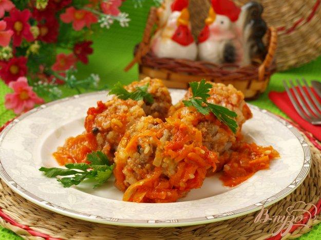 Рецепт Мясные тефтели с рисом в томатном соусе
