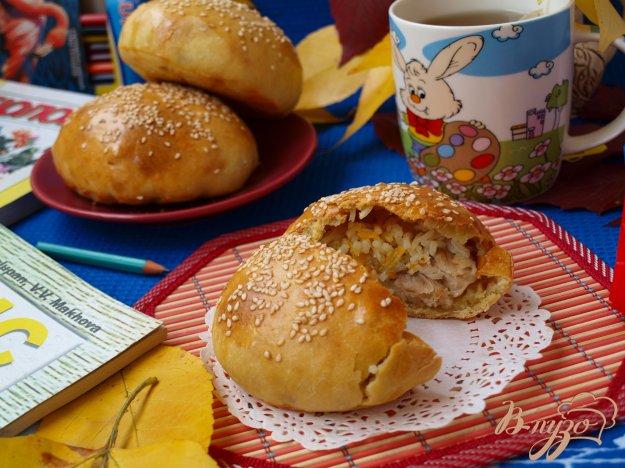 Рецепт Плов с курицей в булочке