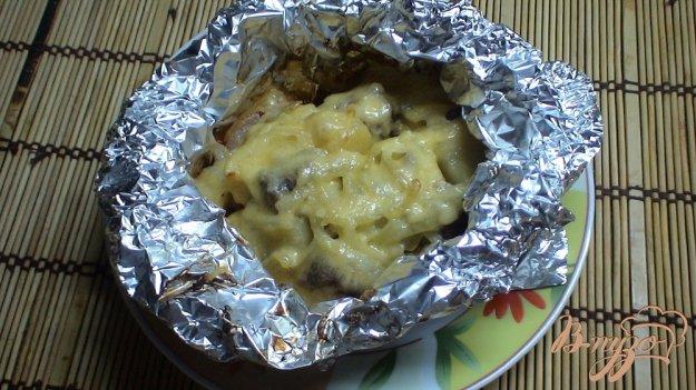 Рецепт Говядина с овощами в фольге порционно