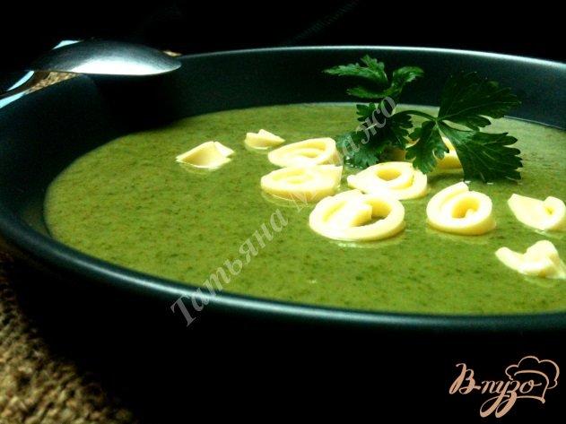 Фото приготовление рецепта: Шпинатный суп с грушами шаг №6
