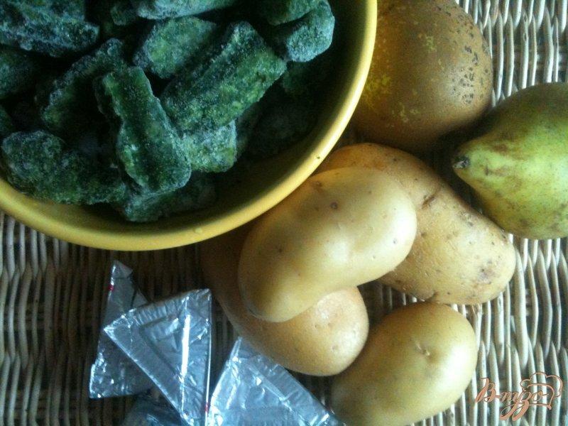 Фото приготовление рецепта: Шпинатный суп с грушами шаг №1
