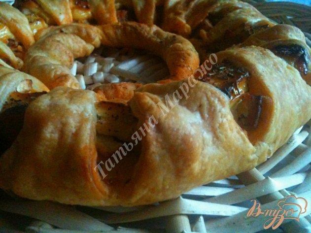 Фото приготовление рецепта: Закусочная слойка шаг №6