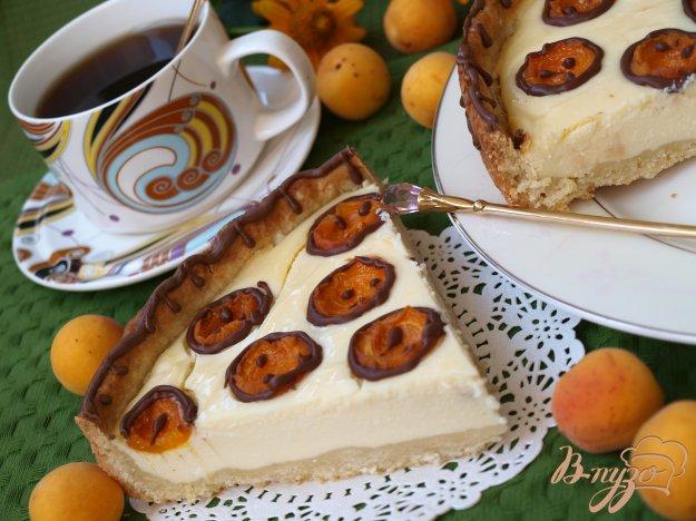 фото рецепта: Творожный пирог с абрикосами