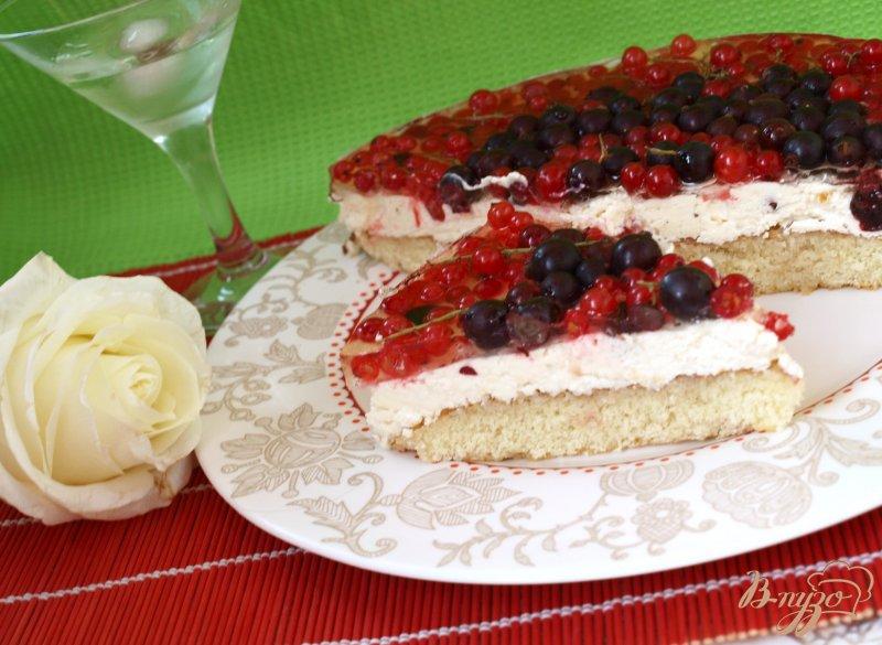 Фото приготовление рецепта: Смородиновый торт