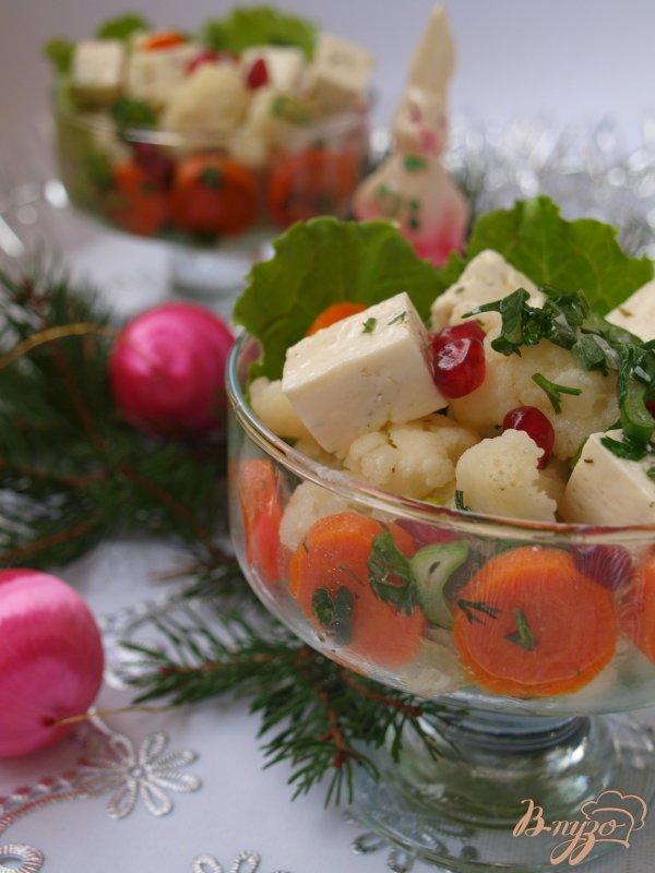 Фото приготовление рецепта: Цветная капуста с брынзой и морковью шаг №5