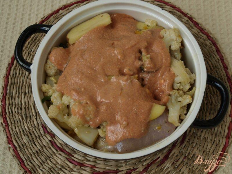 Фото приготовление рецепта: Рагу из овощей с курицей шаг №5