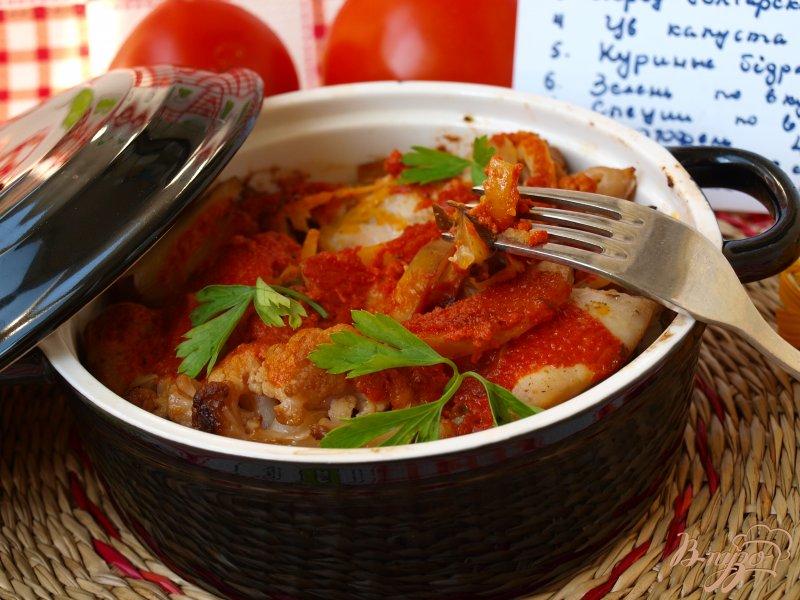 Фото приготовление рецепта: Рагу из овощей с курицей шаг №6