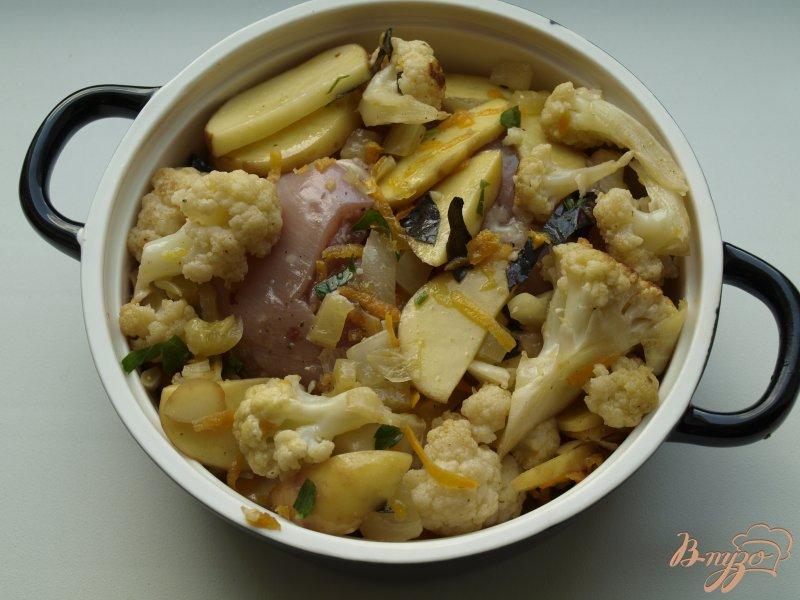 Фото приготовление рецепта: Рагу из овощей с курицей шаг №3