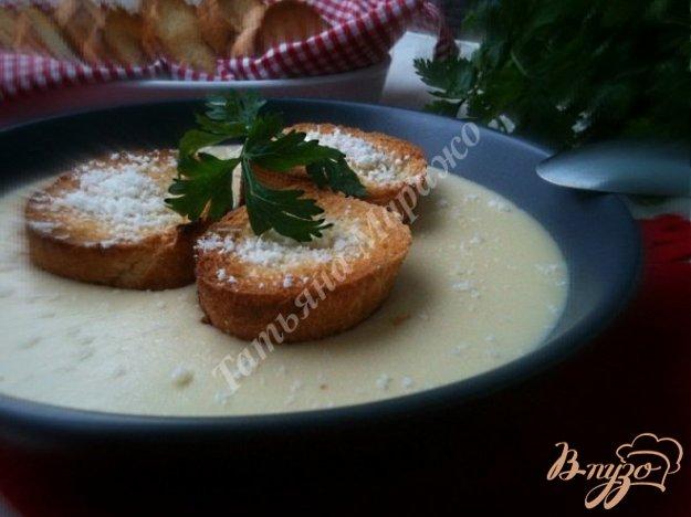 Рецепт Сырный суп с гренками