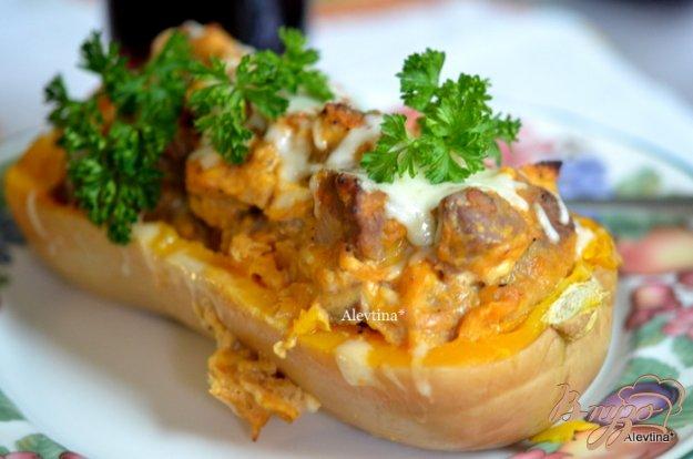 фото рецепта: Фаршированная тыква  с говядиной и сыром