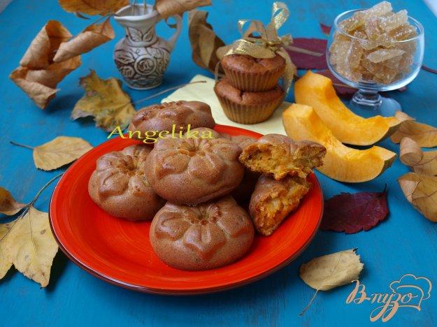 Рецепт Морковно-тыквенные кексы с мармеладом