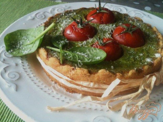 Рецепт Пирог с начинкой из шпината с тунцом