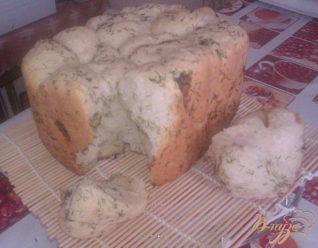 Рецепт Обезьяний хлеб с укропом и чесноком в хлебопечке