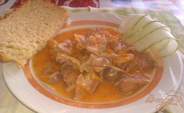 Рецепт Гуляш из куриных желудочков
