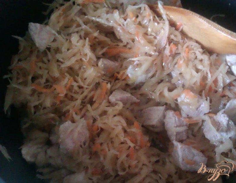 Фото приготовление рецепта: Бигос со свининой шаг №2