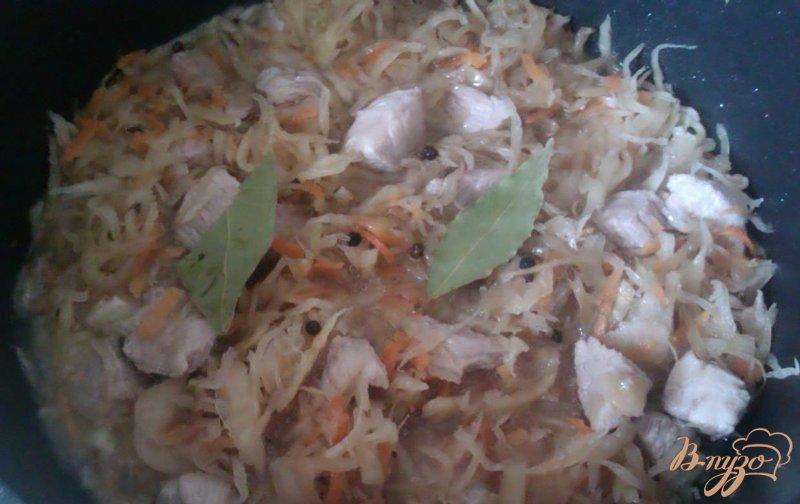 Фото приготовление рецепта: Бигос со свининой шаг №3