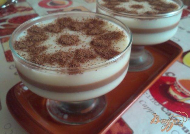 Рецепт Слоеное молочно-шоколадное желе