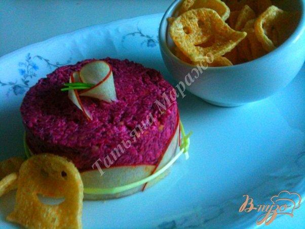 Рецепт Закуска из свеклы и козьего сыра
