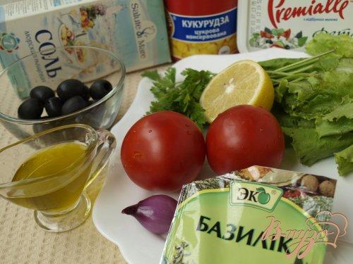 Критский салат с фетой