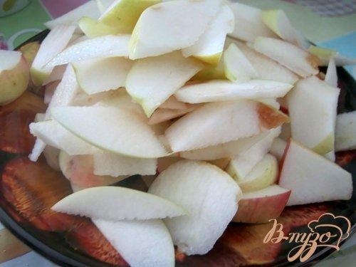 Манник с яблоками