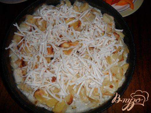 Запеченная картофель с сыром