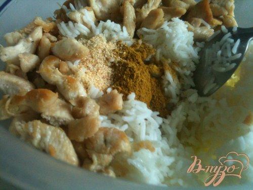 Баклажаны с курицей и рисом