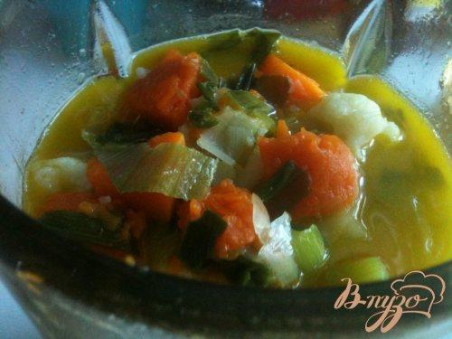 Тыквенный суп с  сырными клецками