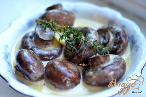 Грибочки в чесночном соусе