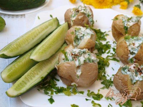 Картофель,запечённый на соли