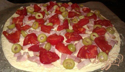 Пицца с копченой грудинкой