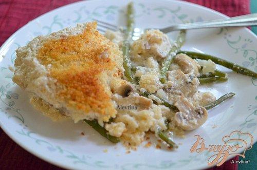 Куриная запеканка с зеленой фасолью