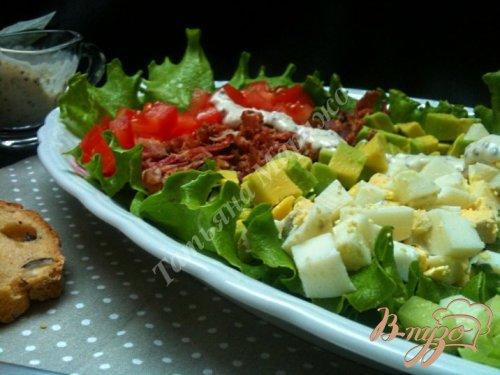 Овощной салат с  хрустящим беконом