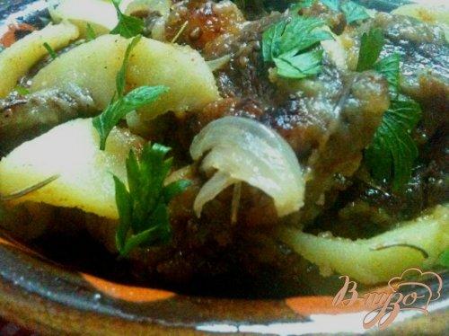 Жаркое из говядины с яблоками